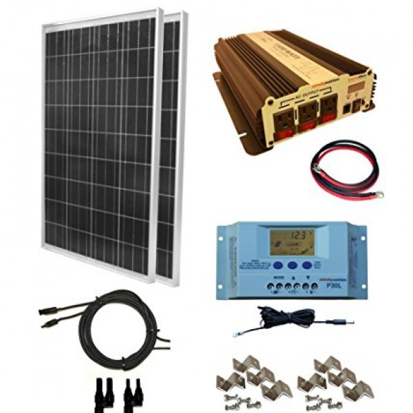 Rv Solar Battery Charger System : Complete watt solar panel kit with w vertamax