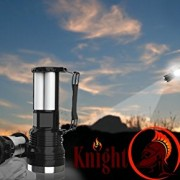 Knight-Lighter-Camping-Lantern-Spotlight-Rechargeable-Nightlight-Flashlight-Solar-Emergency-Light-with-Lantern-Great-for-Auto-Emergency-Kit-0-5